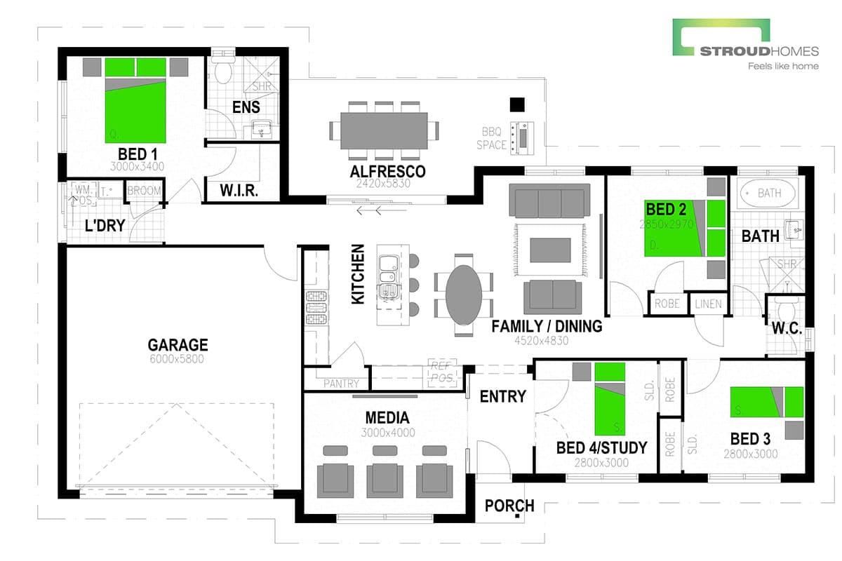 Rimu 181 Floor Plan