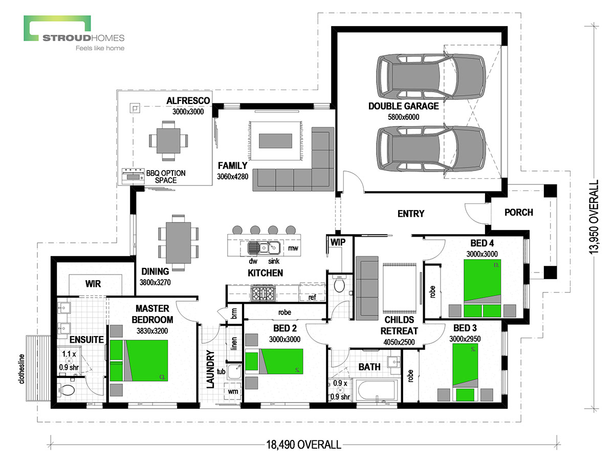 Milford 190 Floor Plan