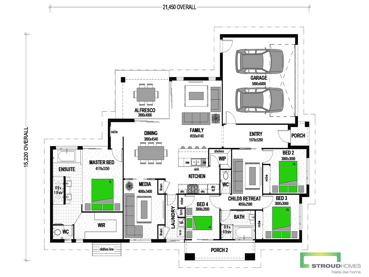 Milford 234 Floor Plan