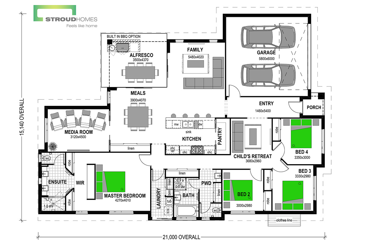 Milford 256 Floor Plan - Option Two
