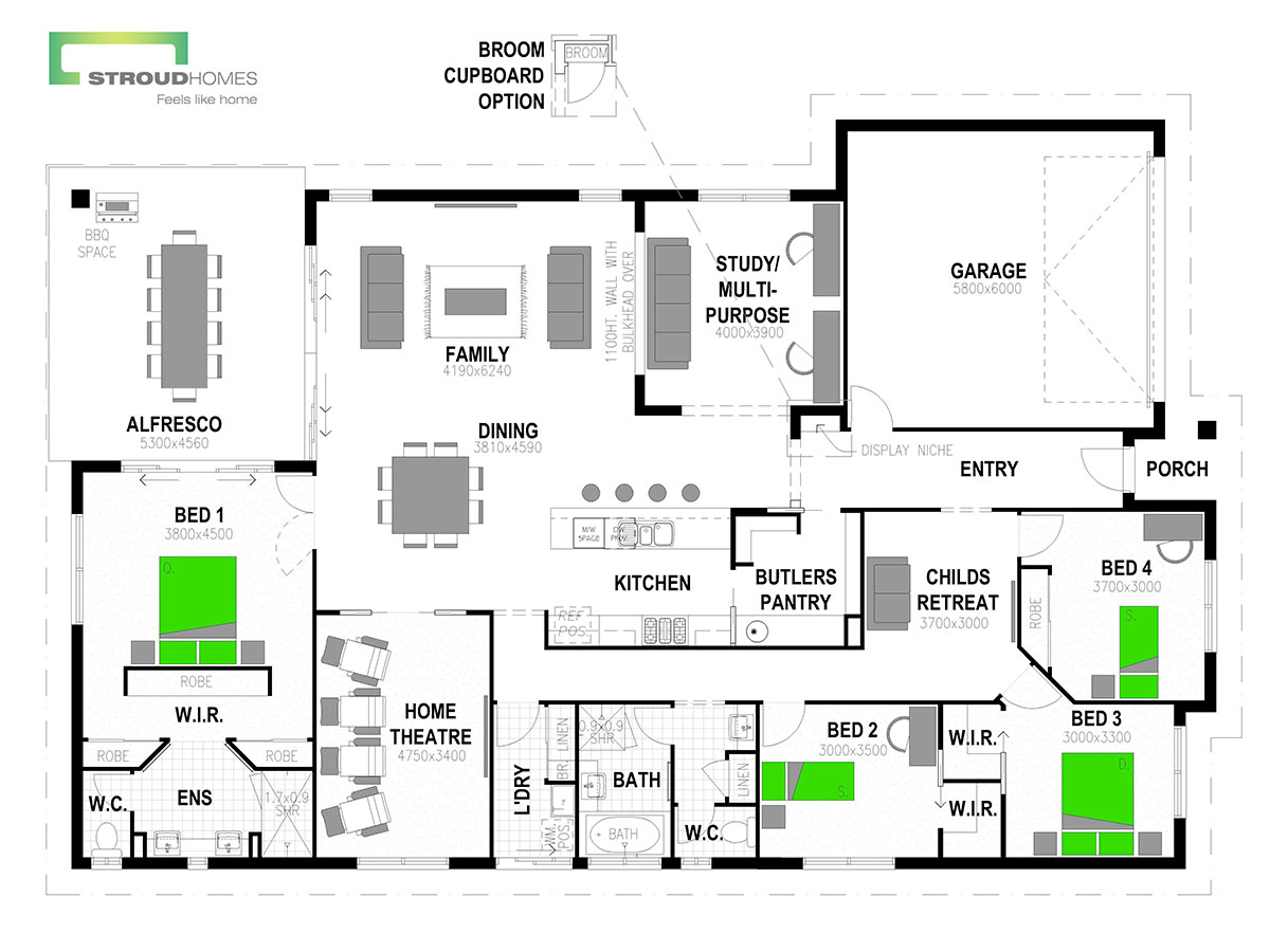 Milford 300 Classic Floor Plan