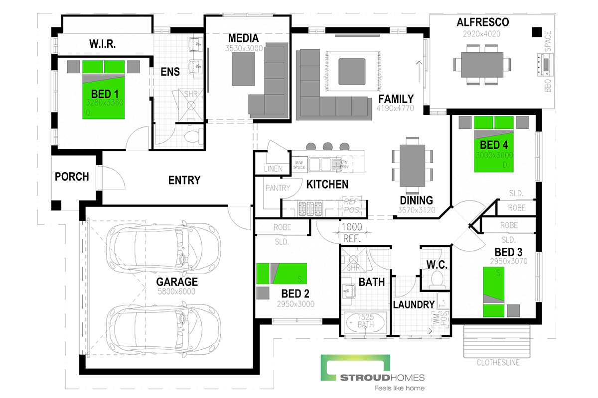 Kingfisher 198 Floor Plan