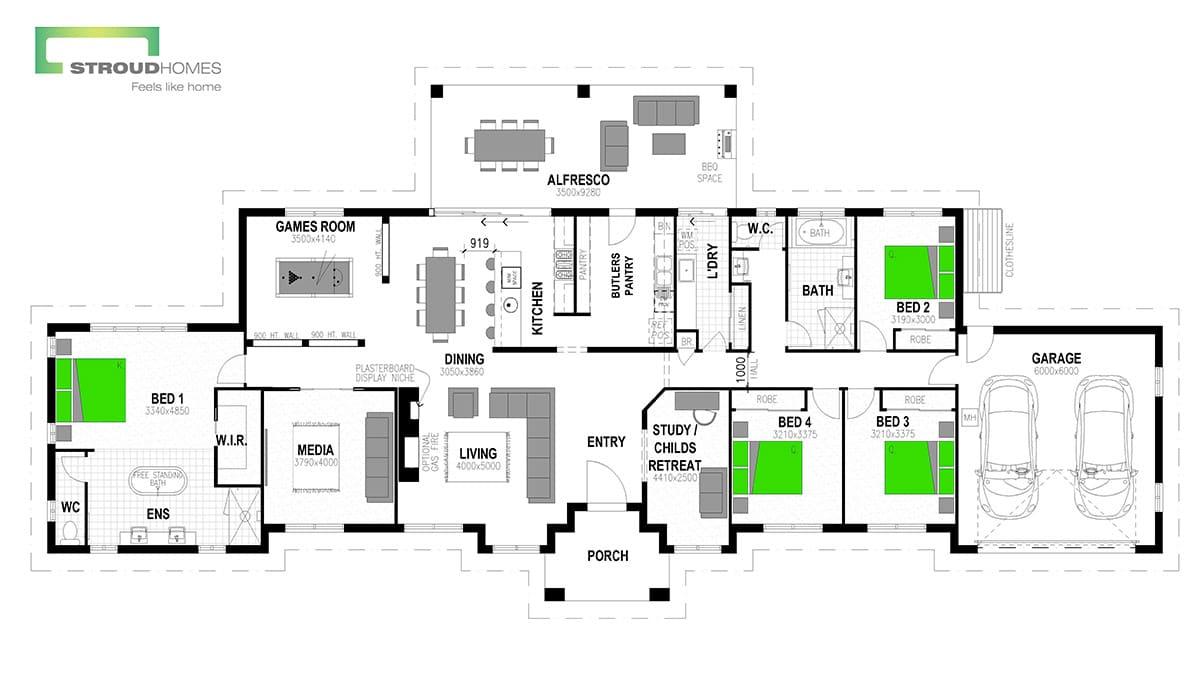 Matakana 320 Floor Plan