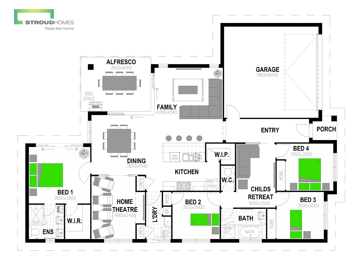 Milford 216 Floor Plan