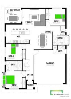 Mangawhai 163 Classic Floor Plan