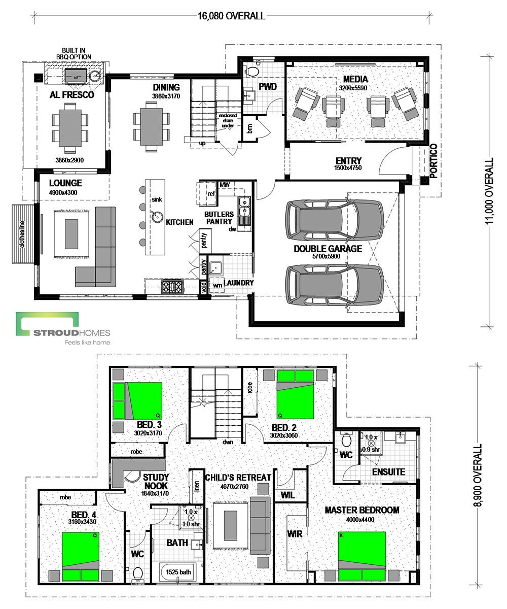Piha 270 Classic Floor Plan