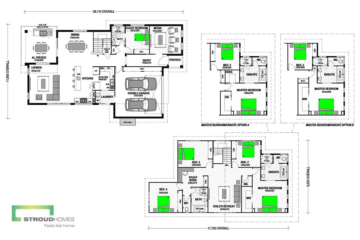 Piha 330 Classic Floor Plan