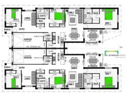 Fiordland 306 Duplex Classic Floor Plan