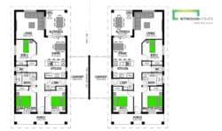 Hillary 273 Duplex Classic Floor Plan