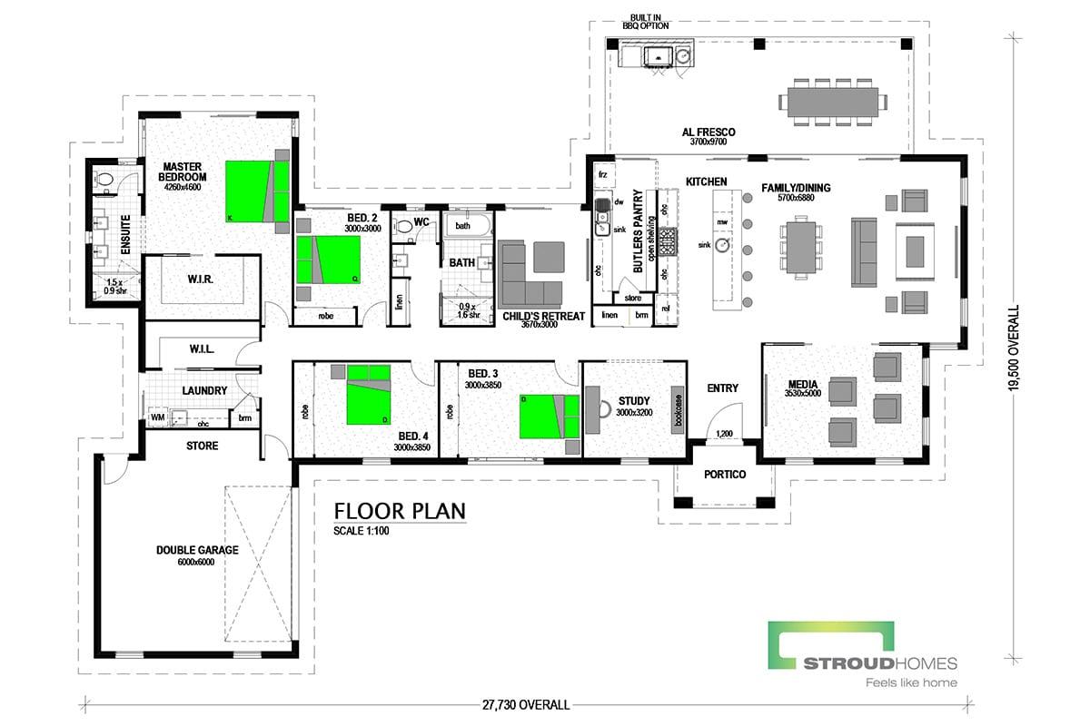Pauanui 329 Classic Floor Plan