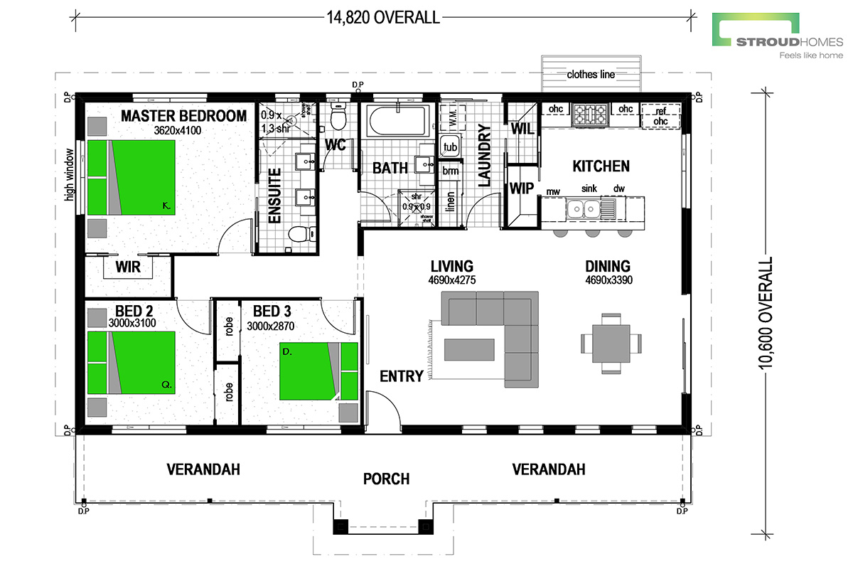 Tasman 148 Coast Floor Plan