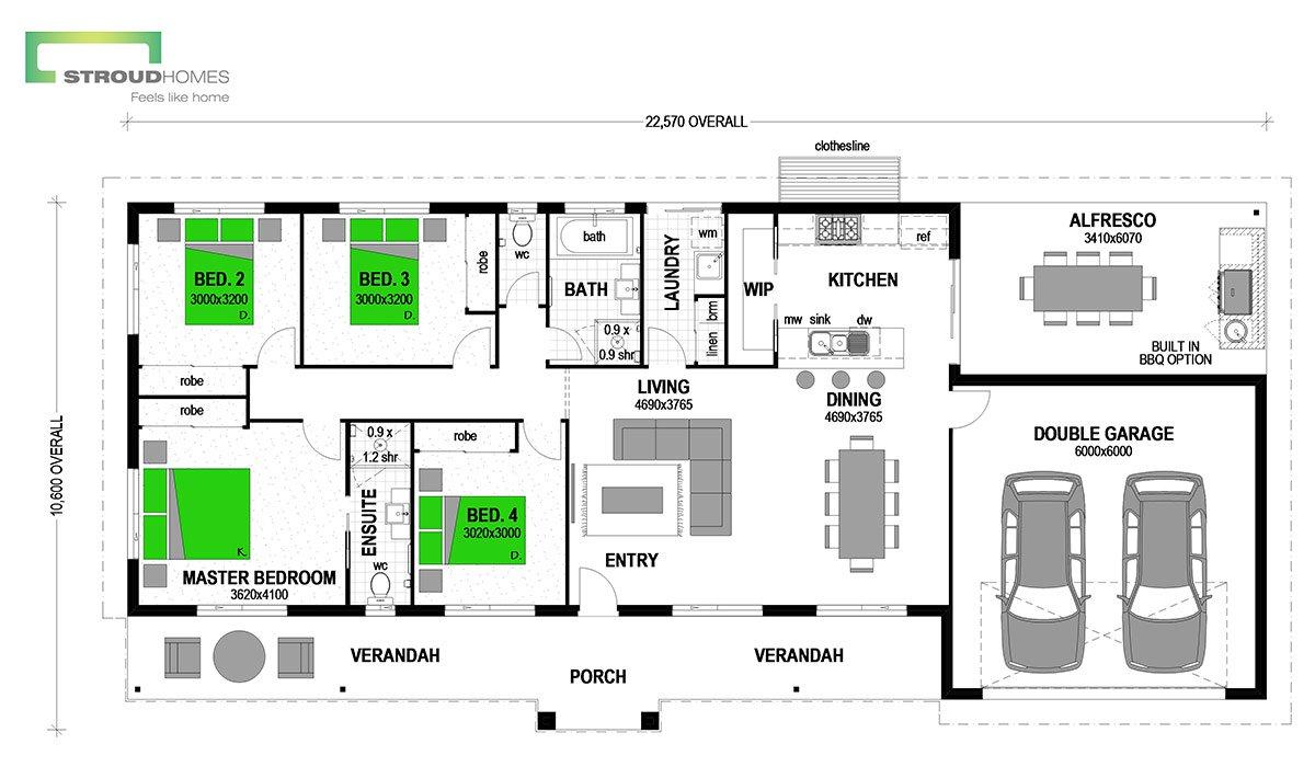 Tasman 223 Classic Floor Plan