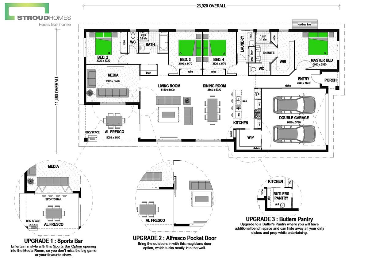 Kakapō 256 Classic Floor Plan