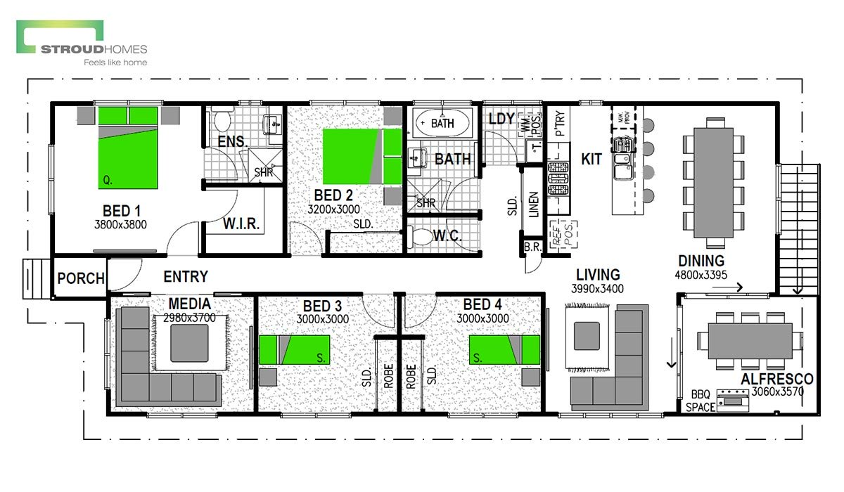 Warrington 147 Coast Floor Plan