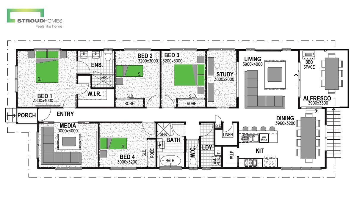 Warrington 168 Coast Floor Plan