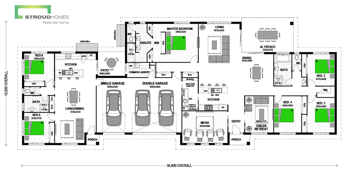 Hahei 394 with Granny Flat Classic Floor Plan