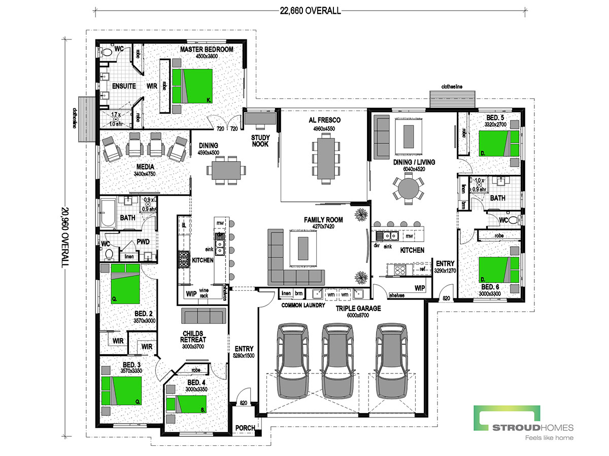 Milford 375 with Granny Flat Classic Floor Plan