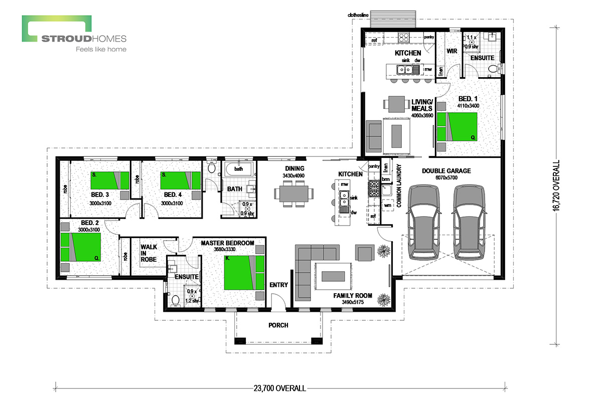 Ohope 235 with Granny Flat Coast Floor Plan