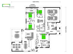 Nikau 270 Split Level Portico Floor Plan