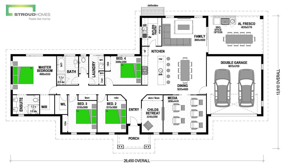 Ohope 258 Classic Floor Plan