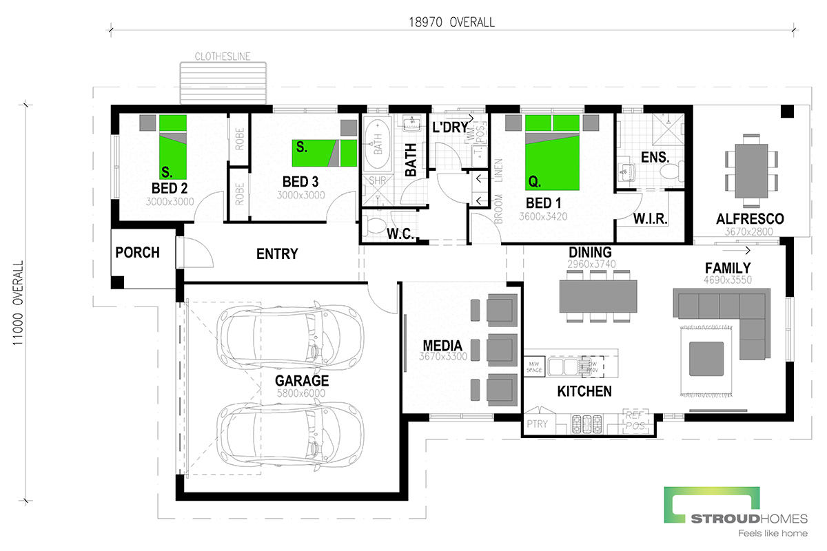 Paihia 176 Classic Floor Plan