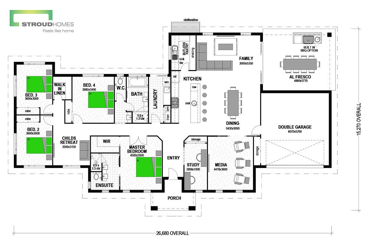 Ohope 300 Floor Plan