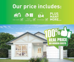 Our price includes site costs, floor coversing and driveway. No hidden costs.