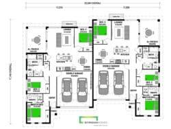 Akaroa 320 Duplex Classic Floor Plan