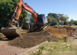 Auckland South knock down rebuild demolition by earthmoving equipment