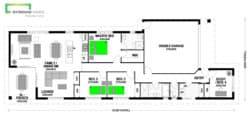 Hauraki 180m2 house Classic Floor Plan
