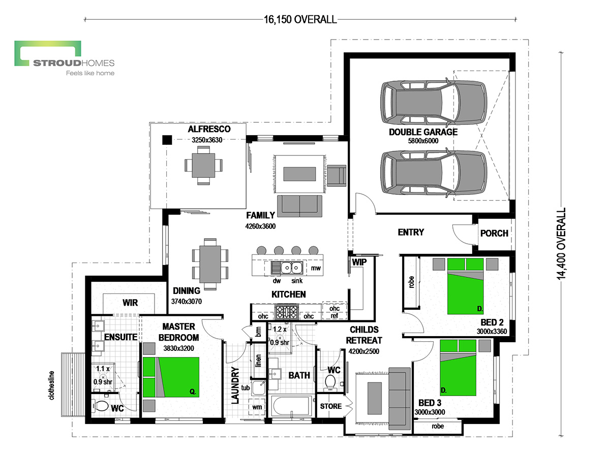 Milford 180 Classic Floor Plan