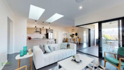 Milford 274m2 house lounge, kitchen, dining and alfresco area