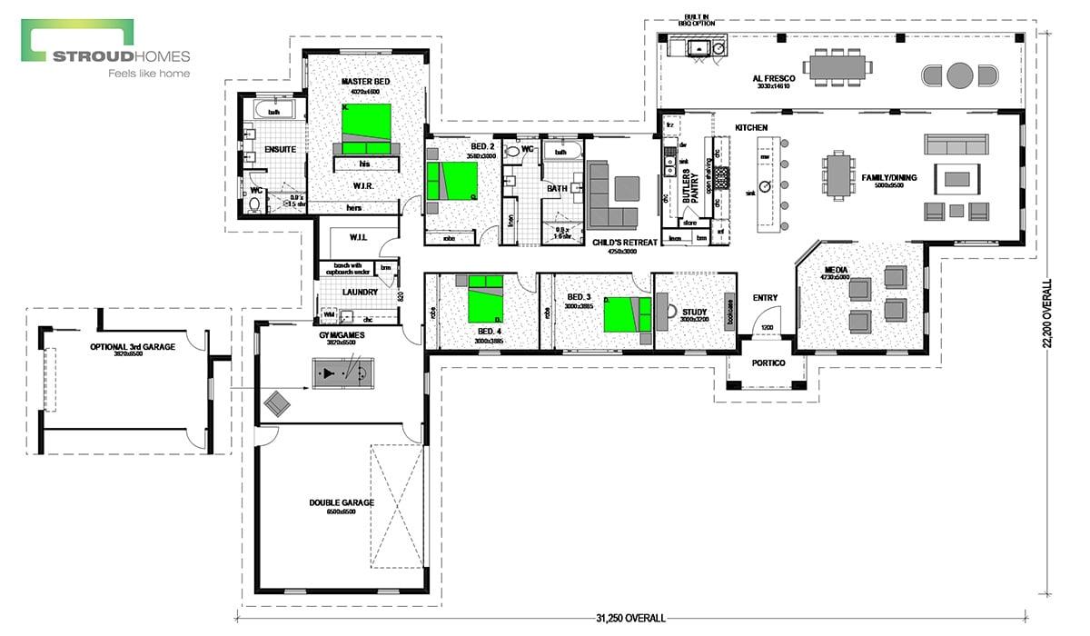 Pauanui 393 Classic Floor Plan