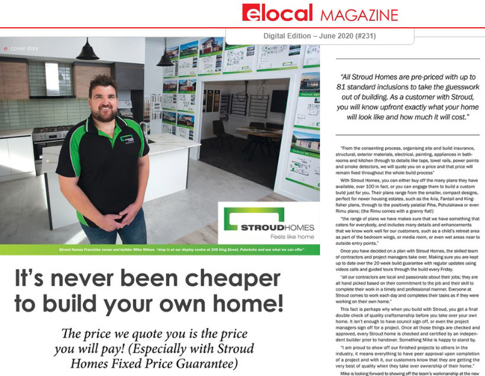 Stroud-Homes-Pokeno-Pukekohe-elocal-Magazine-article-Mike-Wilson