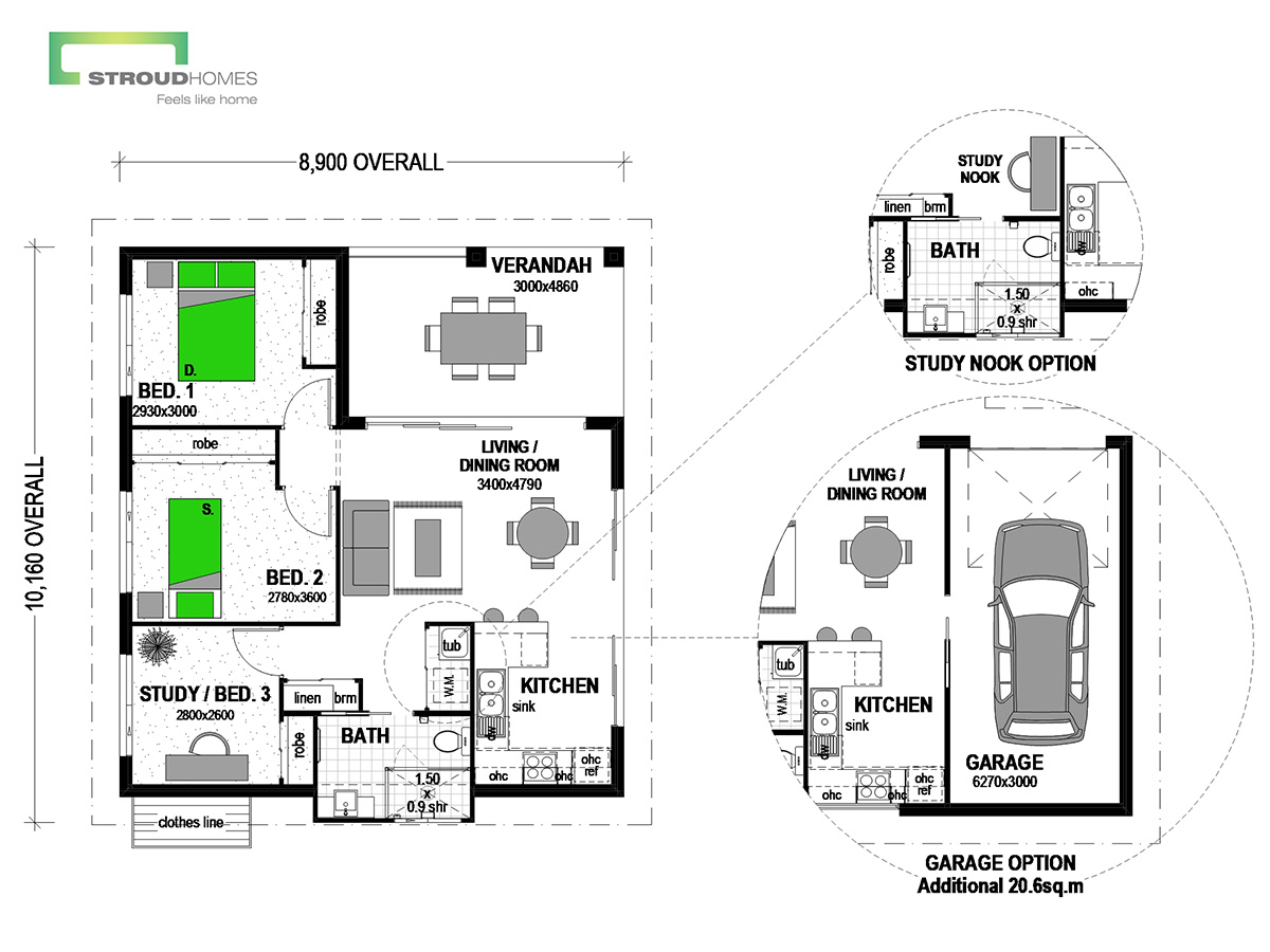 Tairua 88 Retreat Classic Floor Plan