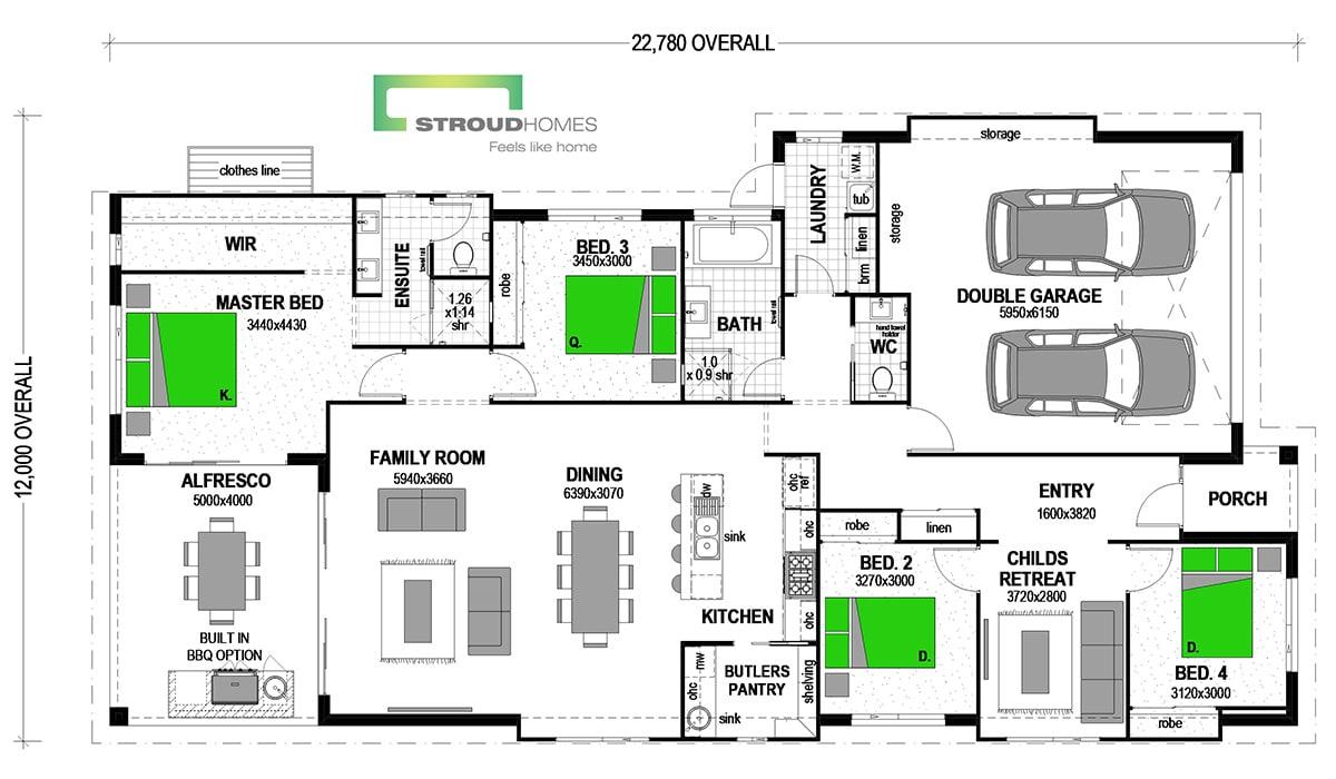 Paihia 240 Classic Floor Plan