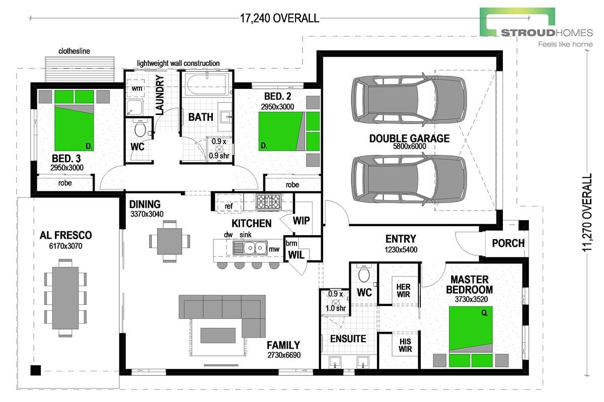 Kingfisher 180 Classic Floor Plan